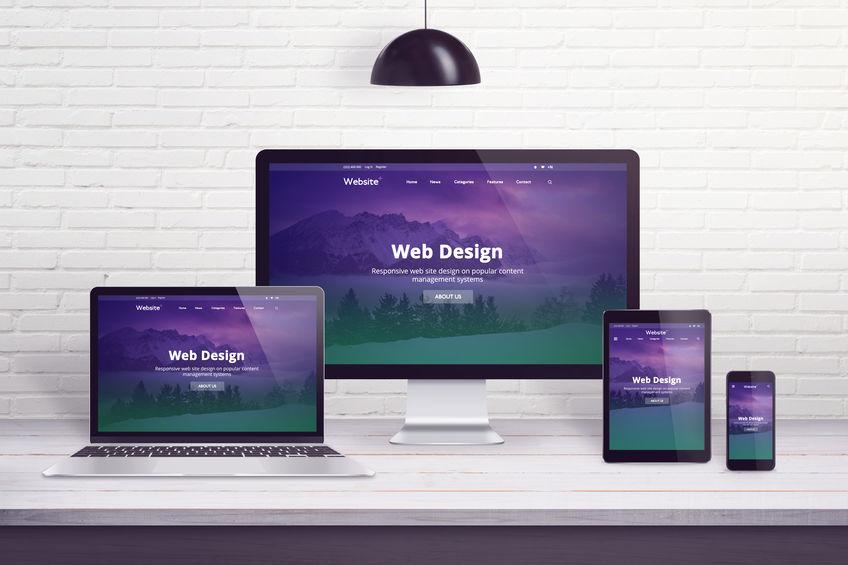 Responsive website design on multiple different displays